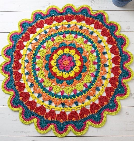 Dmc Natura Xl Decorative Rug Crochet Pattern 15408